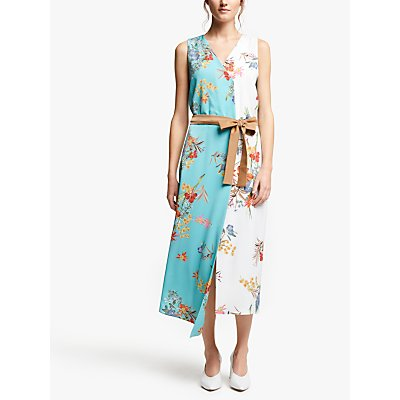 Marella Elfo Floral Print Dress, Blue