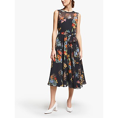 Marella Pinta Floral Print Dress, Black