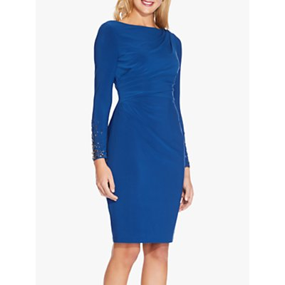 Adrianna Papell Short Asymmetric Sheath Dress, Night Flight