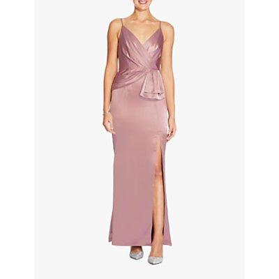 Adrianna Papell Petite Satin Dress, Rose