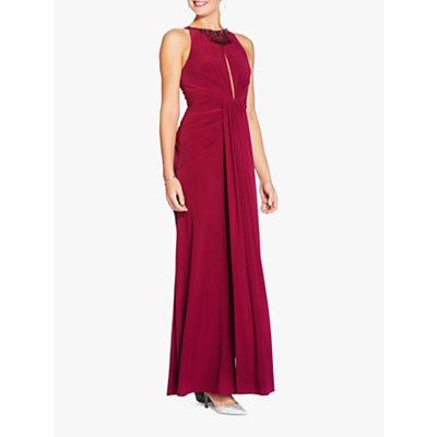 Adrianna Papell Matte Jersey Maxi Dress, Red Plum