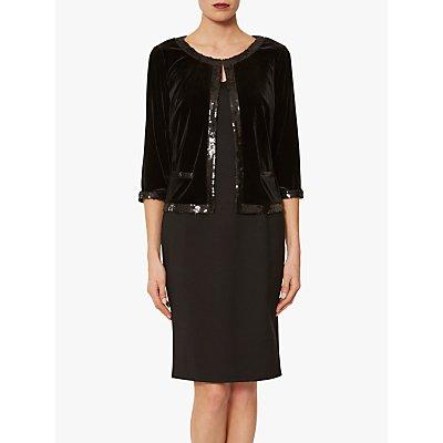 Gina Bacconi Aria Velvet Embellished Jacket, Black