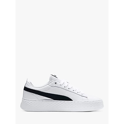 PUMA Smash Platform Women's Trainers, PUMA White/PUMA Black