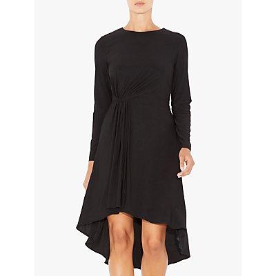 Adrianna Papell Matte Jersey Flare Dress, Black
