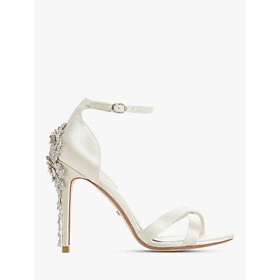 Dune Marvelle Bridal Collection Embellished Stiletto Heel Sandals, Ivory Satin