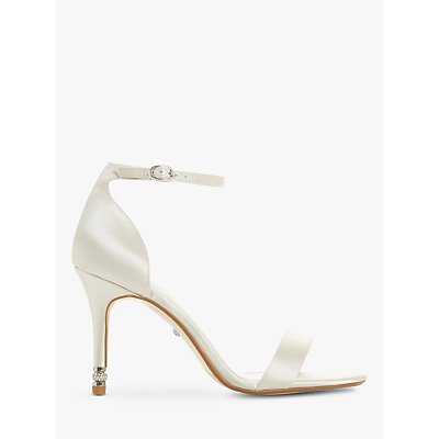 Dune Bridal Collection Match Maker Stiletto Heel Sandals, Ivory Satin