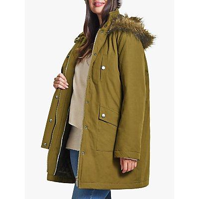 Four Seasons Faux Fur Trimmed Caban Coat