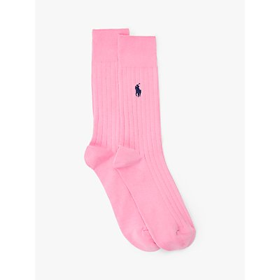 Ralph Lauren Plain Ribbed Socks, Pink