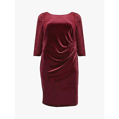 Studio 8 Lindsay Ruched Detail Velvet Dress, Red