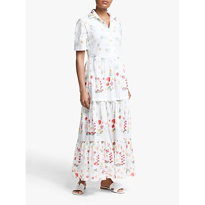 Weekend MaxMara Floral Maxi Dress, White/Multi