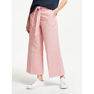 Weekend MaxMara Cotton Linen Wide Leg Trousers