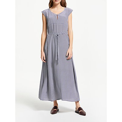 Weekend MaxMara Printed Silk Maxi Dress, Ultra Marine