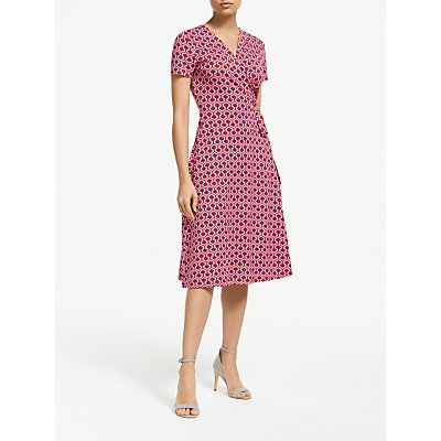 Weekend MaxMara Geo Print Jersey Dress, Red/Multi