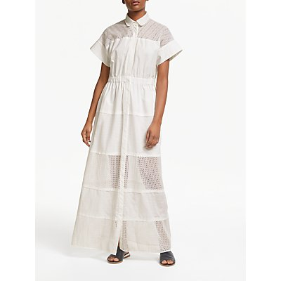 Weekend MaxMara Broderie Maxi Dress, White