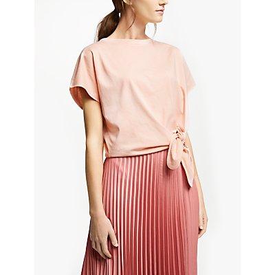 Marella Tie Knot Jersey Top, Pink