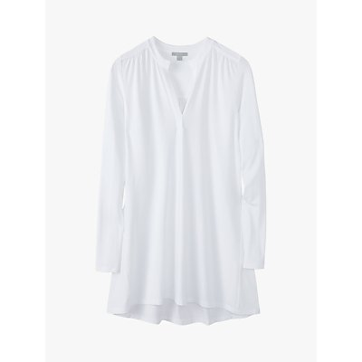 Pure Collection Jersey Swing Tunic Top, White