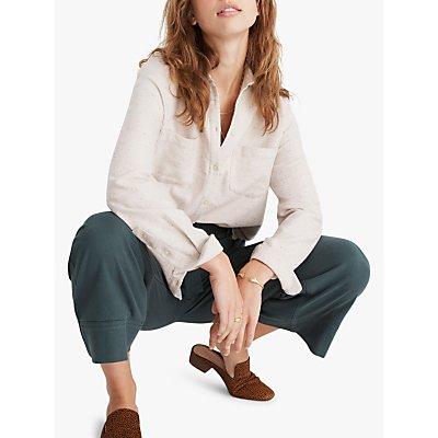 Madewell Flannel Sunday Shirt, Pale Oyster Melange
