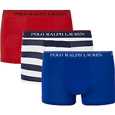 Polo Ralph Lauren Executive Stripe Stretch Cotton Trunks  Pack of 3  Multi - 3615735392213