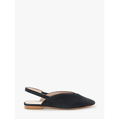 John Lewis & Partners Clara V Cut Flat Slingback Flat Court Shoes