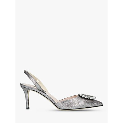 SJP by Sarah Jessica Parker Mabel Slingback Court Shoes, Metallic