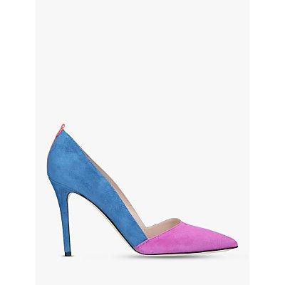 SJP by Sarah Jessica Parker Rampling Stiletto Heel Court Shoes, Blue/Pink Suede