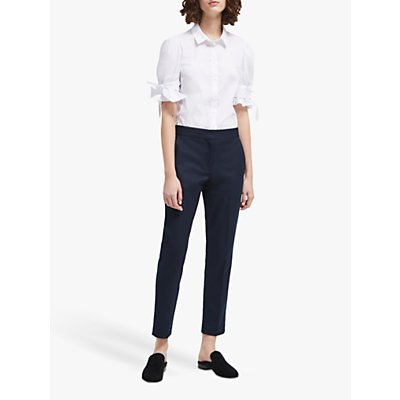 French Connection Whisper Ruth Tapered Trousers, Utility Blue