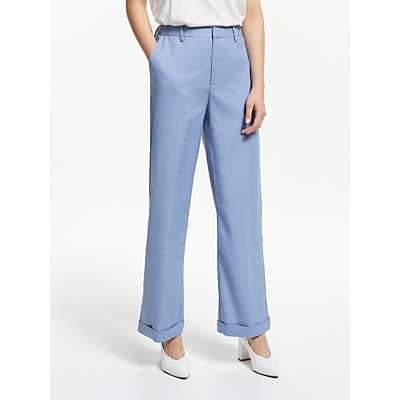 Gestuz Natima Tailored Trousers, Light Blue