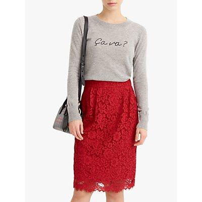 J.Crew Pintuck Lace Pencil Skirt