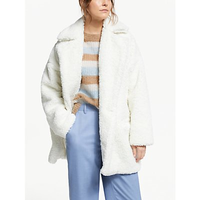 Gestuz Eri Faux Fur Jacket, Vaporous Grey