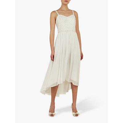 Ted Baker Rosemary Floral Detail Midi Dress, White