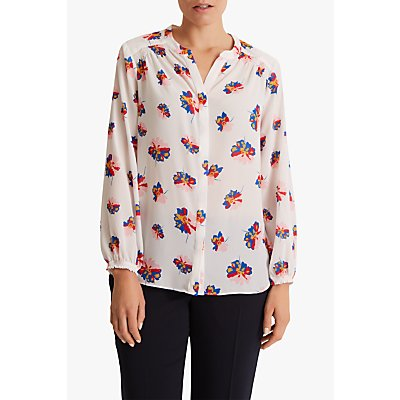 Fenn Wright Manson Petite Caprice Long Sleeve Top, White Floral