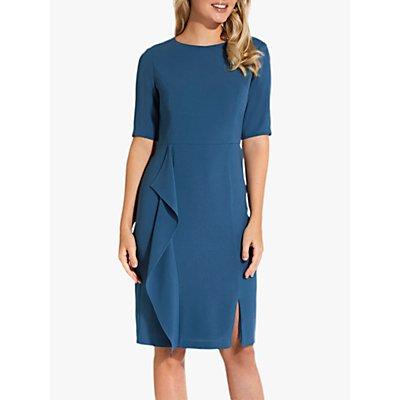 Adrianna Papell Textured Crepe Dress, Blue Sea
