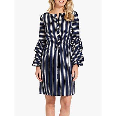 Adrianna Papell Melody Stripe Shirt Dress, Blue/White