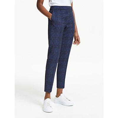 PS Paul Smith Jacquard Dot Slim Leg Trousers, Navy