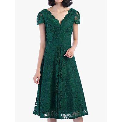 Jolie Moi Cap Sleeve Lace Dress, Green