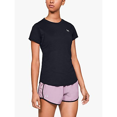 Under Armour Streaker 2.0 Short Sleeve Running Top, Black