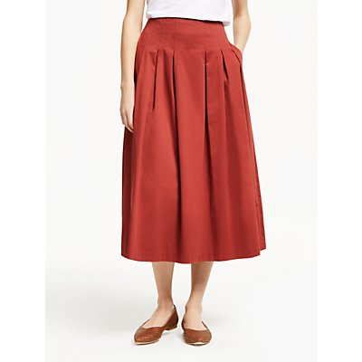 Boden Theodora Pleat Skirt, Conker