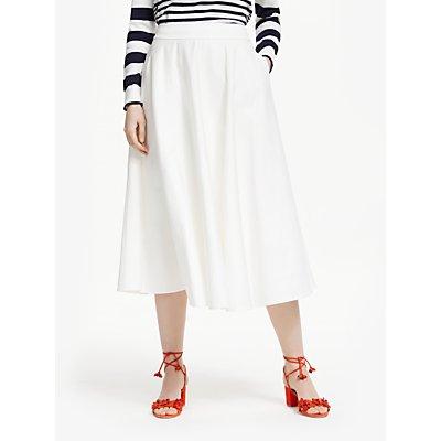 Boden Delilah A-Line Skirt, Ivory