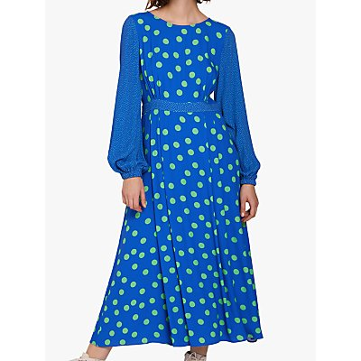 Ghost Emily Polka Dot Dress, Blue