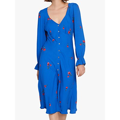 Ghost Allie Crepe Dress, Blue