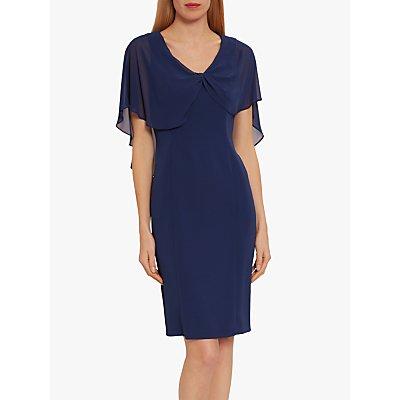 Gina Bacconi Arwena Chiffon Crepe Dress, Navy