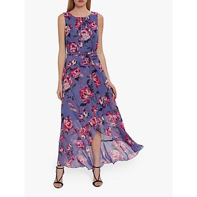 Gina Bacconi Ronna Floral Chiffon Dress, Lilac