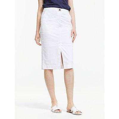 John Lewis & Partners Chino Pencil Skirt, White