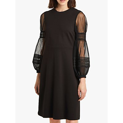 French Connection Paulette Jersey Puff Sleeve Dress, Black