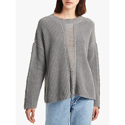 French Connection Roche Mozart Jumper  Light Grey - 192942066357