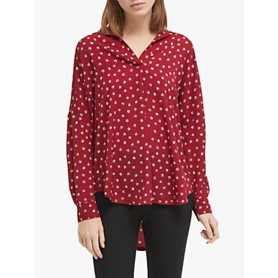 French Connection Adelise Shirt, Rosso Red/Multi