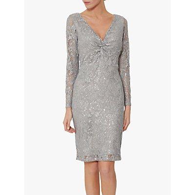 Gina Bacconi Janella Lace Dress, Grey