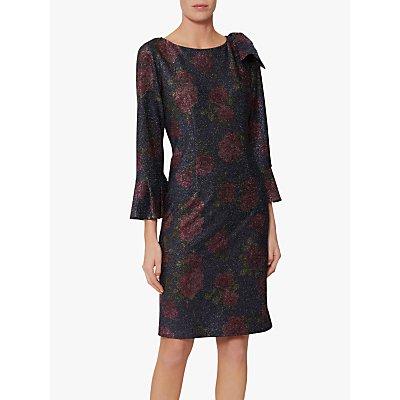 Gina Bacconi Belanna Print Dress, Navy/Pink