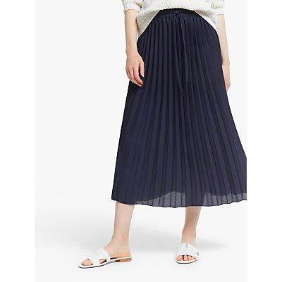 John Lewis & Partners Sun Ray Pleat Midi Skirt