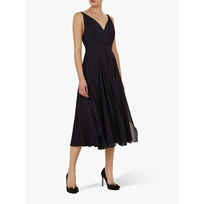 Ted Baker Celeyst V-Neck Georgette Midi Dress